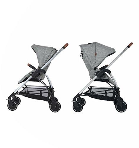 Bébé Confort Mya - Cochecito urbano 3 en 1, diseño compacto, sistema plegable, para bebes de 0 meses hasta 3,5 años, color gris