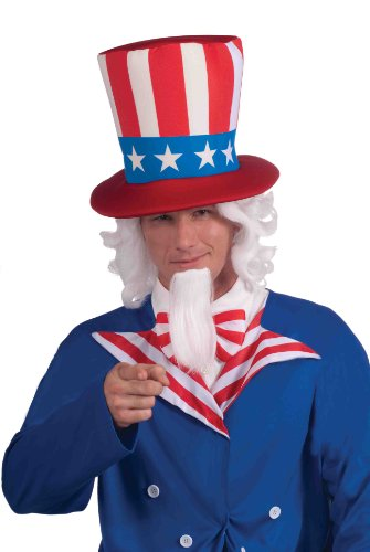 4F Uncle Sam Per-cke und Bart Set (Uncle-sam-bart)
