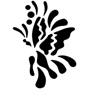 Eulenspiegel Butterfly Plantilla de pintura facial 109021