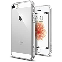 Spigen Coque iPhone Se / 5S / 5 [Ultra Hybrid] Dos Rigide en PC, Bord Souple en Silicone, Protection [AIR Cushion] aux 4 Coins, Bonne Prise en Main, Anti Scratch, Compatible avec iPhone Se / 5S / 5