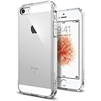 iPhone SE Hülle, Spigen® iPhone 5S/5/SE Hülle [Ultra Hybrid] Luftpolster-Technologie [Crystal Clear] Durchsichtige Rückschale und Transparent TPU-Bumper Schutzhülle für iPhone SE/5S/5 Case, iPhone SE/5S/5 Cover - Crystal Clear (SGP10640)