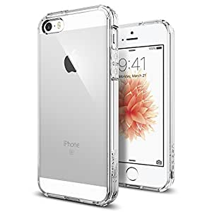 iPhone SE Hülle, Spigen® iPhone 5S/5/SE Hülle [Ultra Hybrid] Luftpolster-Technologie [Crystal Clear] Durchsichtige Rückschale und Transparent TPU-Bumper Schutzhülle für iPhone SE/5S/5 Case, iPhone SE/5S/5 Cover - Crystal Clear (SGP10640)