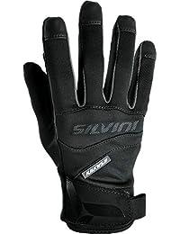 SILVINI Fusaro - Guantes de Ciclismo para Hombre (Tejido Softshell), Color Negro,