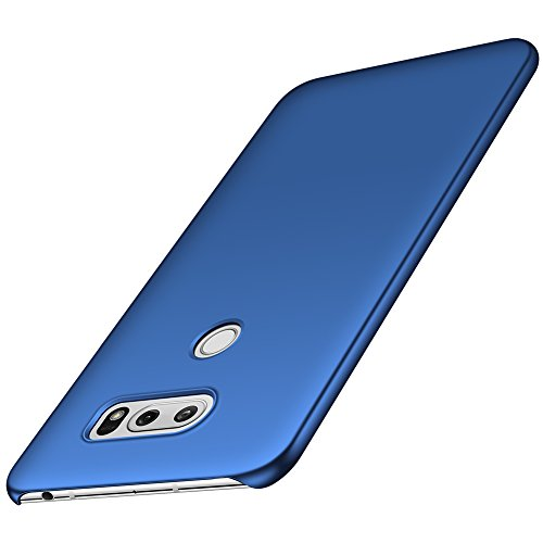 ORNARTO LG V30 Hülle,LG V30s Hülle, LG V30 Plus Hülle,Ultra Dünn Schlank Stoßfest, Anti-Scratch FeinMatt Einfach Handyhülle Abdeckung Stoßstange Hardcase für LG V30/V30s/V30 Plus 6.0'Blau