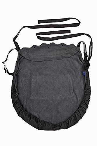 Preisvergleich Produktbild HOPPEDIZ Fleece-Cover 3in1 - wärmendes Tragecover für Tragehilfen mit Regenschutz - Anthrazit