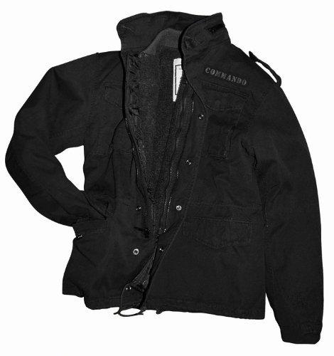 Feldjacke M65 Field Jacket Vintage Style Army Jacke BW Schwarz-washed Gr. XXL -