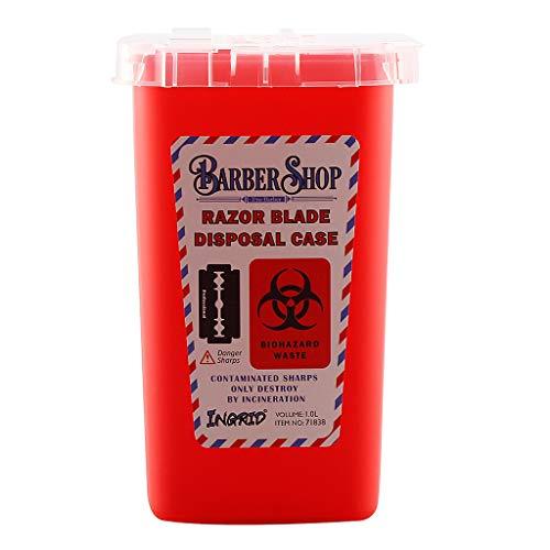 CADANIA Contenedor de residuos Caja para barbería Cuchillas Desechables para Tatuaje Colector Azul