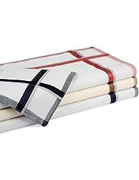 Betz 12 Stück Herren Stoff Taschentücher Set Leo 2 Größe 40x40 cm 100% Baumwolle Farbe Desisn 8