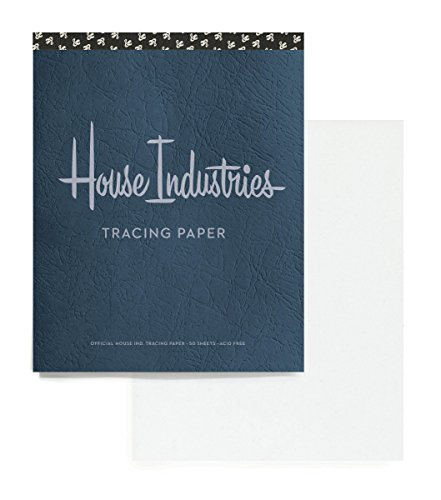 House Industries Tracing Pad: 40 Acid-Free Sheets, Lettering Tips, Extra-Thick Backing Board...