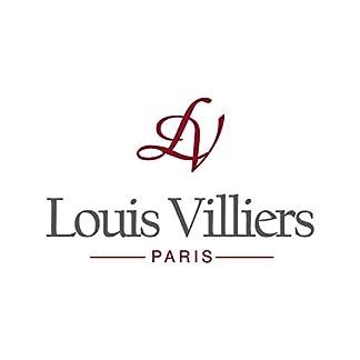Louis-Villiers-Unisex-Analog-Quarz-Uhr-mit-Edelstahl-Armband-LV1040