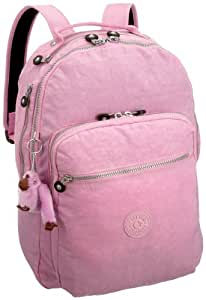 Kipling Women's Seoul Large Backpack with Laptop Protection and Padded Shoulder Straps Ultra Pink