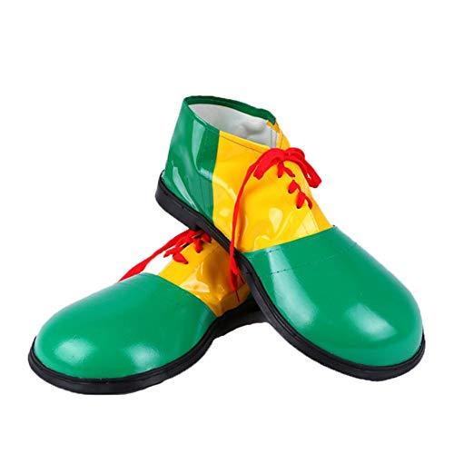 Luerme 1 Paar Clown Schuhe Stiefel Kostüm Halloween Leder Clown Schuhe Halloween Party Prop Kostüm Zubehör Halloween Leder Clown Schuhe