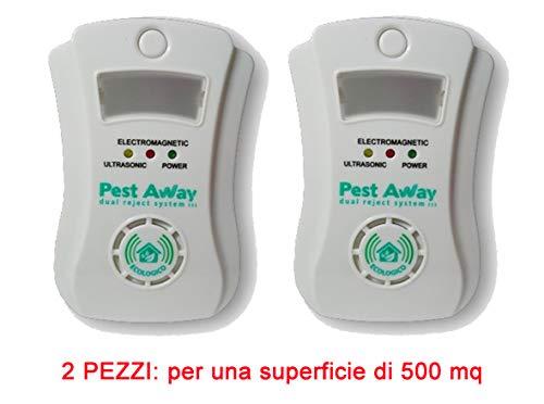 PEST AWAY 2 L'Originale ANTIZANZARE Anti Insetti E RODITORI 500 mq Case CONDOMINIO Ville ANTINSETTI Protezione