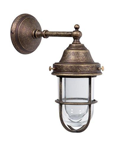 Lampada da parete in ottone stile tartaruga