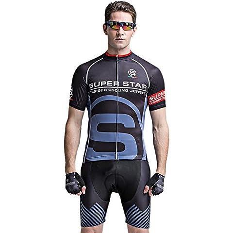 MaMaison007 Juegos del mens ciclismo manga corta bicicleta cortos deportes Jersey rápido transpirable absorción verano seco-6