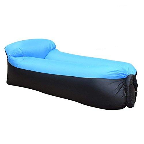 PAKELI Aufblasbare Liege,Aufblasbare Couch Wasserdichtes aufblasbares Sofa mit Integriertem Kissen, Tragbar Air Betten Schlafen Sofa Couch Lounger für Reisen, Camping, Park, Strand, Hinterhof