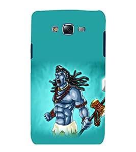 printtech Lord God Shiva Animated Back Case Cover for Samsung Galaxy Quattro i8552 / Samsung Galaxy Quattro Win i8552