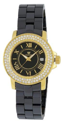 Wellington WN105-222 - Reloj de mujer de cuarzo, correa de cerámica, color negro