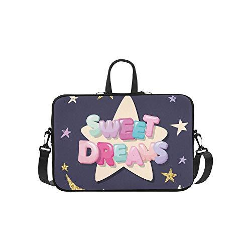 Sweet Dreams Cute Design Pyjamas Nachtwäsche Aktentasche Laptoptasche Messenger Schulter Arbeitstasche Crossbody Handtasche für Geschäftsreisen (Sweet Pyjamas Dreams)