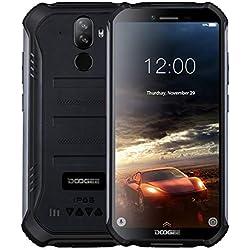 DOOGEE S40 - Télephone Portable incassable debloqué 4G Android 9,0 - 5,5 '' (Gorilla Glass 4) IP68 / IP69K extérieur étanche imperméable Smartphone Militaire,Double SIM, 4650mAh, 2GB+16GB,NFC Noir