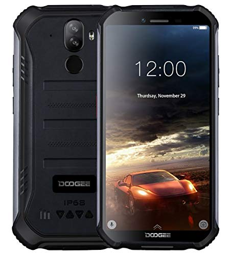 "DOOGEE S40 Robustes 4G Android 9,0 Handy ohne Vertrag,5,5"" HD (Gorilla Glass 4) IP68 Outdoor wasserdichtes Telephone DUAL SIM Militär Smartphone, 4650mAh Akku, Quadcore 1,5GHz 2GB+16GB NFC - Schwarz"