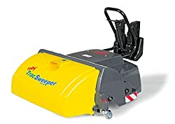 Rolly Toys 409709 Kehrmaschine Trac Sweeper; passend für Fahrzeuge mit Frontanhängekupplung; integrierter Auffangbehälter (geeignet für Kinder ab 3 Jahren; Farbe Gelb/Grau)