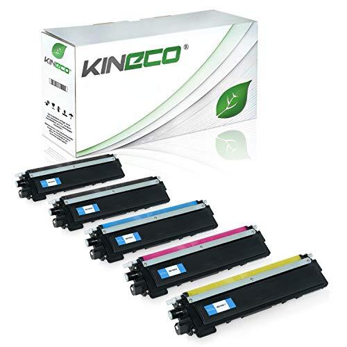 Kineco 5 Toner kompatibel für Brother TN-230 TN230 für Brother HL-3040 CNG1, MFC9120CN, DCP-9010CN, HL-3070CN, MFC-9320CW, MFC-9325CW - Schwarz je 2.200 Seiten, Color je 1.400 Seiten - Drucker Mfc9320cw Brother