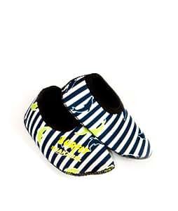 Surfit Chaussures de piscine en néoprène pour garçon Bleu Bleu marine à rayures 1