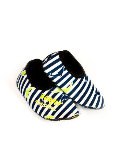 Surfit, Scarpette in neoprene da piscina Bambino, Blu (Bleu - Bleu marine à rayures), Misura 5 Blu (Bleu - Bleu marine à rayures)