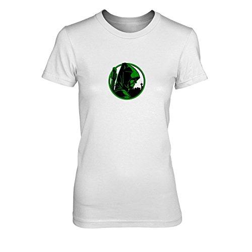 Oliver - Damen T-Shirt, Größe: XL, Farbe: weiß (Green Arrow Kostüm Staffel 4)