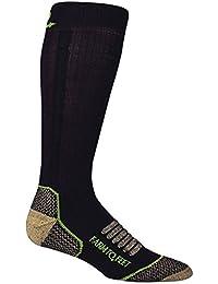 Granja a pies Ely del hombre luz peso caña media calcetines, hombre, color marrón