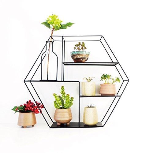 Udfybre Klassische Schwarze/weiße Eisen-Kunst-Blumen-Zahnstange, mehrgeschossige Wandregal-Regale, können verwendet Werden Mehrfache Kombinationen Anwendbares Wohnzimmer, Balkon, Innen und im Freien