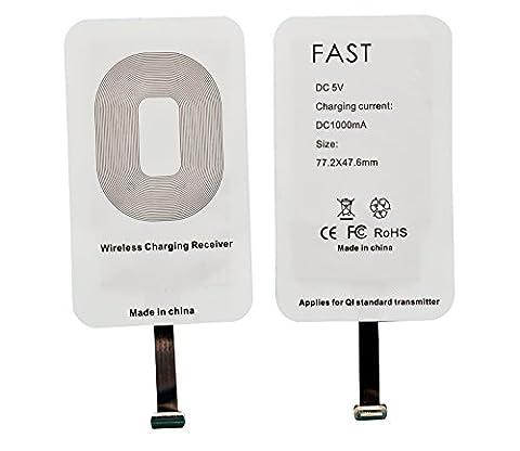 WOODHEART Récepteur de recharge sans fil universel QI pour Apple