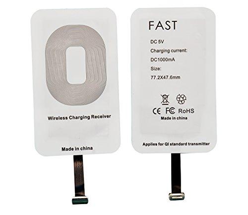 WOODHEART Universal QI Wireless Ladegerät für Apple iPhone 7 plus, iPhone 6s plus, iPhone 5 5s, iPhone 5C, iPad mini, etc (IOS Receiver)