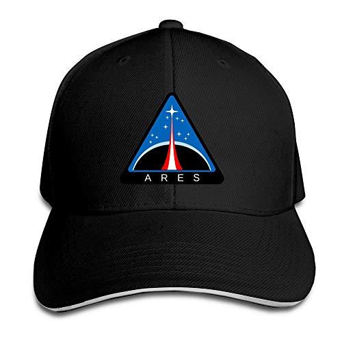 658a30cc5 Ideal cap Huseki TopSeller Unisex NASA Ares Logo Adjustable Peaked Baseball  Caps Hats Black Cappellino