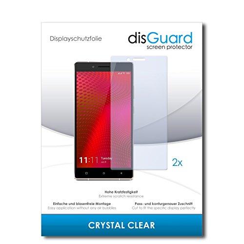 disGuard® Bildschirmschutzfolie [Crystal Clear] kompatibel mit Gionee Elife E8 [2 Stück] Kristallklar, Transparent, Unsichtbar, Extrem Kratzfest, Anti-Fingerabdruck - Panzerglas Folie, Schutzfolie
