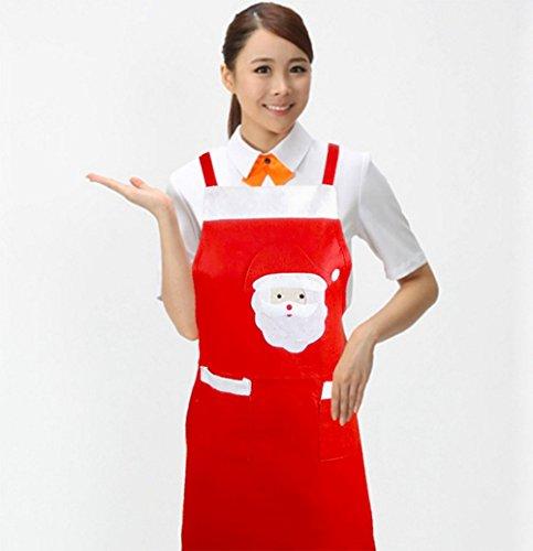 vi. Yo Babbo Natale rosso grembiule per uomini donne adulti chef Christmas Decoration Gift
