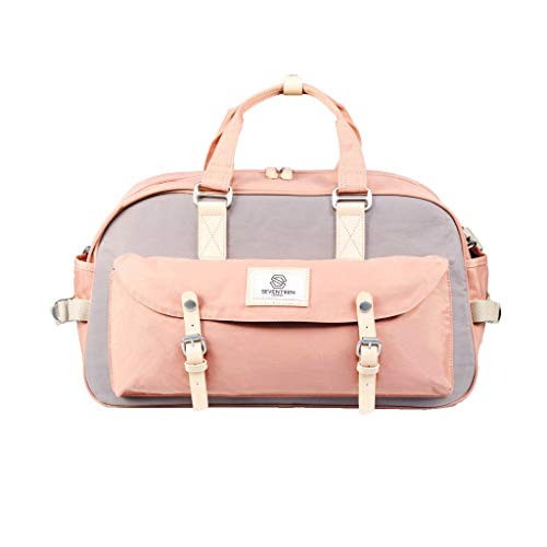 SEVENTEEN LONDON - Moderne, einfache und Unisex \'Hackney Duffle\' Reisetasche in rosa und grau mit Einem klassischen Design im Skandi-Stil - perfekt für iPad