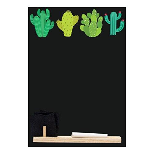 Kreidetafeln UK klein Memo Board/Kreidetafel/Tafel/Küche Kreidetafel mit bedruckt Kaktus Design,...