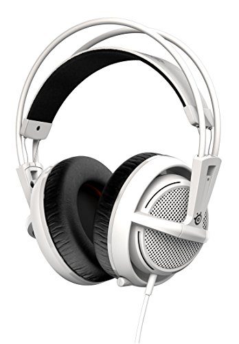 SteelSeries Siberia 200 - Auriculares para Juego, micrófono retráctil, gestión de Software, (PC/Mac / Playstation/Móvil), Blanco