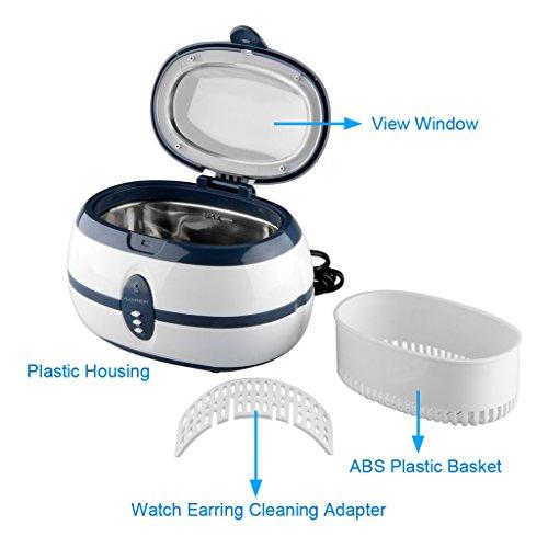 FLOUREON 600ML Ultraschall Gerät Ultrasonic Cleaner Reiniger Reinigungsgerät für zuhause -