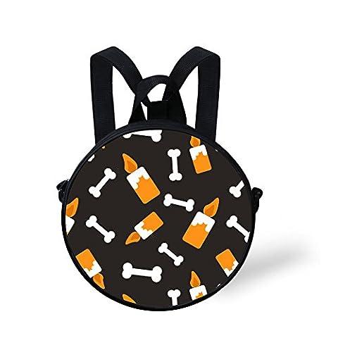 TUOKING Neuheit Halloween Knochen und Kerze Nette Kleinkind Baby Schule Taschen