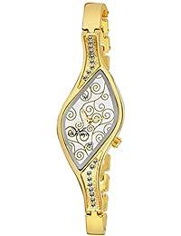 Louis Devin LD-JWL116-WHTGLD Gold Plated Bracelet Wrist Watch for Women