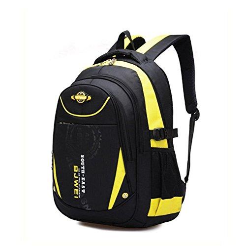 YAAGLE Kind Rucksack Schulranzen für 8-13 jährige Jungen und Mädchen Rucksackhandtasche Gold (Handtaschen Bag Army Junior)