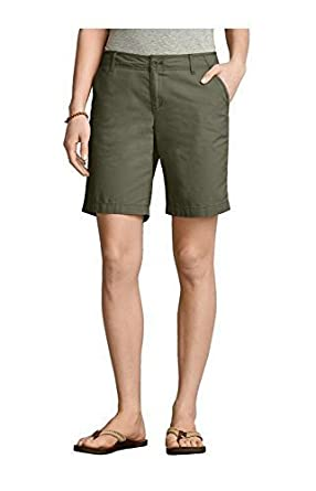 Shorts Bermuda Shorts Ladies from Eddie Bauer - Olive, 6 (36 ...