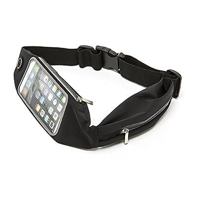 [Sac Banane Sport] élastique de sac/ceinture/Outdoor Sac Banane pour Course iPhone se/5S/5/6/6S/6 plus/7, Samsung Galaxy – Running Belt/étui de ceinture pour smartphone dans le noir