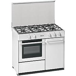 Meireles G 2940 V Autonome Cuisinière à gaz Blanc - Fours et cuisinières (Cuisinière, Blanc, Rotatif, Devant, Cuisinière à gaz, Gaz naturel)