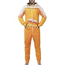 Unisexo Pijama de Gran tamaño, Estampado Creativo Los Amantes de la casa con Capucha Usan