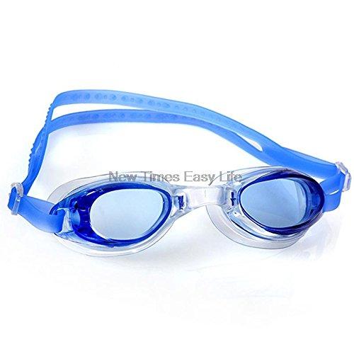 Zorux - Außen Wassersport Schwimmbrillen Schutzbrillen Tauchen Brillen-Badebekleidung für Männer Frauen Kinder w/Clear Case [blau]
