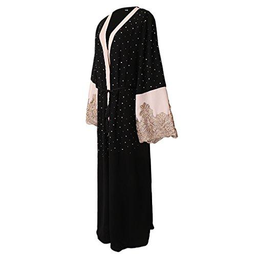 Baoblaze Abaya Festkleid Muslim Dubai Muslimisch Islamisch Arabisch Indien Türkisch Casual...
